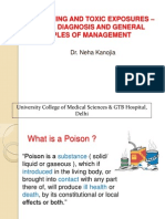 1. General Management of a Case of Poisoning (1)