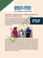 Installation Réservoir Eau Chaude - L'eau Pro
