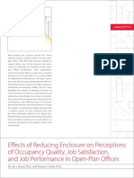 Effects of Reducing Enclosure Abstract