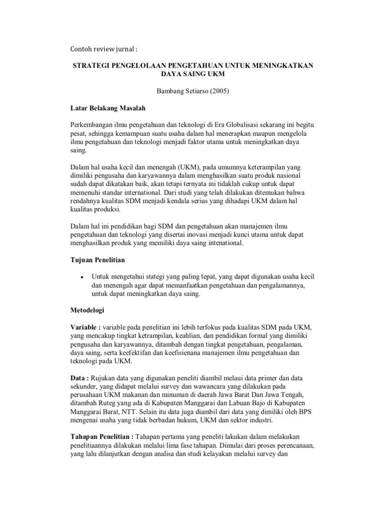 Jurnal Pendidikan Agama Contoh Review Jurnal Pendidikan