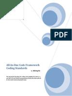 C# All-In-One Code Framework Coding Standards