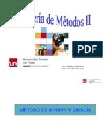 20. Metodo Brown y Gibson II Parte