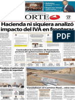 Periódico Norte de Ciudad Juárez 17 de Octubre de 2013