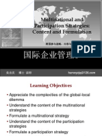Multinational and Participation Strategies