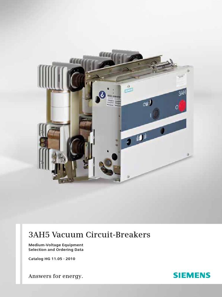 Catalog Vacuum Circuit Breakers 3ah5 En | Electrical