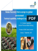 Metals Recovery From e Scrapin a Global Environment