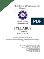 Syllabus 3rd Semester