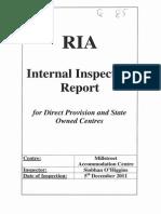 85. RIA Inspection Team Report 05122011