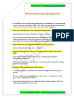 August 2013 Current Affairs | Current affairs 2013