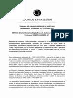 Fiche no 1 - Costa Concordia - O ffre transactionnelle - Dommage imminent - TGI Nanterre Ordonnance de référé 13 février 2012