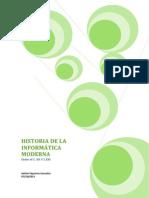 HISTORIA DE LA INFORMÁTICA MODERNA