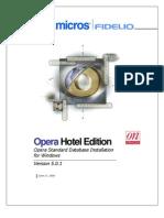 1427 - Opera v5.0.1 NT- Database Server Install