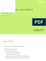 post-colonial linguistics; education; powerpoint