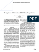 Ieee-60The Application of Data Fusion in MIMO Radar Target Detection