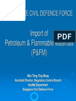 SCDF's Import of Petroleum & Flammable Materials (P&FM)