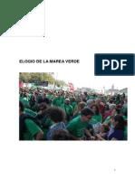 Elogio de La Marea Verde, De Pio Maceda