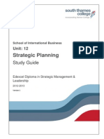 Unit 12 - Strategic Planning MSG Gp N
