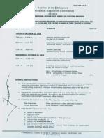 BOARD PROGRAM -  October 2013 Customs Brokers Board Examination