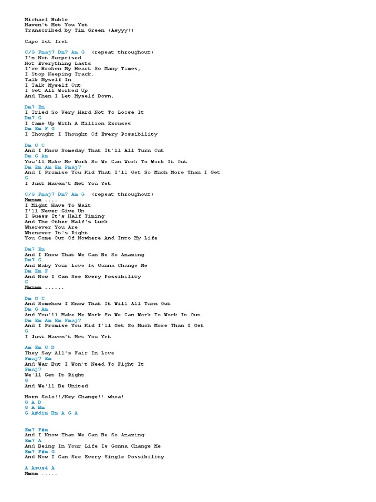Michael Bublecx Song Structure Songs