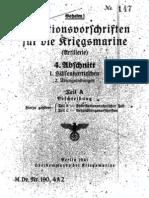 """M.Dv.190/4A2"" Munitionsvorschriften fur die Kriegsmarine (Artillerie) - 1941"