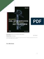 XML Web Services for the Microsoft .NET Platform