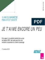 Baromètre Publicité & Société