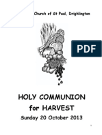 Holy Communion for Harvest