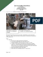 Paintcan Gasifier Stove