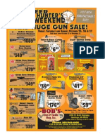 Bobs Gun and Tackle Hunters Weekend Sale