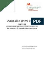 Pronombres relativos en español para extranjeros