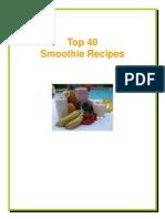 Top 40 Smoothie Recipes