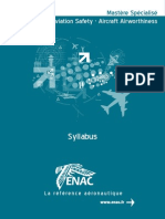 Syllabus Aviation Safety - Aircraft Airworthiness