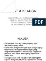 BM-Ayat Dan Klausa