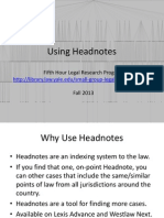 Using Headnotes