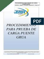 Mspc-sgi-pro-056 Procedimiento Para Prueba de Carga Puente Grua Rev 0