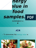 Energy Value in Food