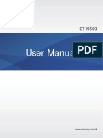 Samsung Galaxy S4 User Manual GT I9500