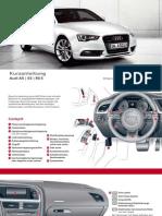 Audi A5 Kurzanleitung Owner's Manual (Germany, 2013)