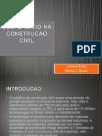 APRESENTAÇÃO - DESPERDÍCIO NA CONSTRUÇÃO CIVIL