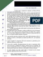 Comunicato N 67 Riunione Mercato Privati Del 15 Ottobre 2013