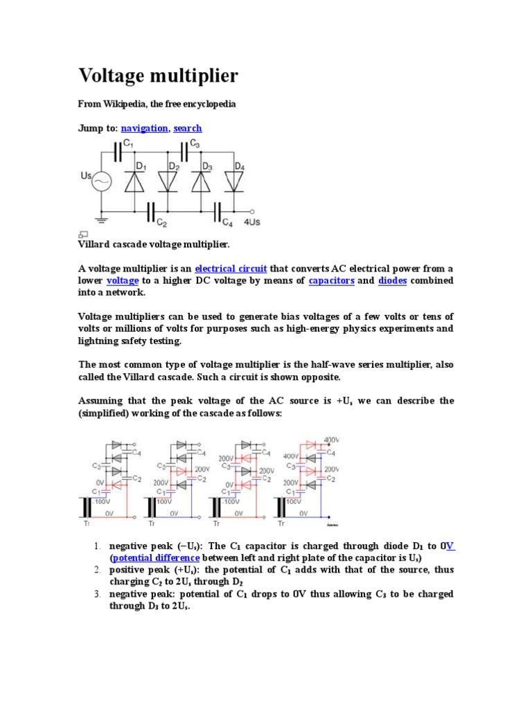 Voltage Multiplier Electronics Components Cheap Dc Doubler Circuit