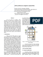 Transmission of RF and Microwave Signals by Optical Fiber