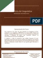 Hist Oria Da Lingu Istica Se Cao 1