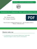 Tesi A. Rinaldi - Emulazione di un collegamento Radio mediante Software Radio