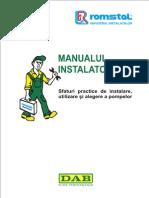 Manualul Instalatorului DAB IMPORTANT
