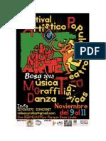 Cartilla Festival Artístico Popular Sin Violent - arte Bosa 2013