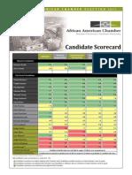 AAC 2013 Election Scorecard -FINAL