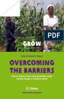 Overcoming the Barriers: How to ensure future food production under climate change in Southern Africa