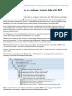 Sapuniversity.eu-how to Extend Vendor or Customer Master Data With SAP Enhancement Spots