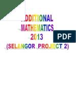Additonal Mathematics Project Work 2013 Selangor